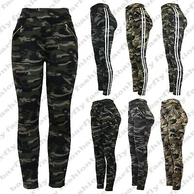 £9.99 • Buy New Ladies Women Camouflage Army Zip Stretchy Pull On Jeggings Legging Size 8-20