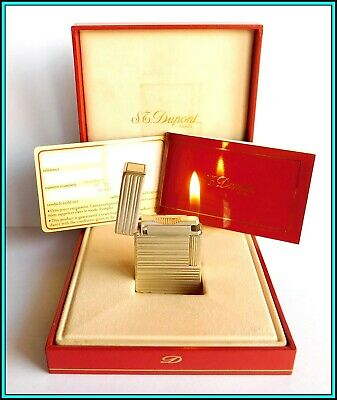 £102.66 • Buy S.T. DUPONT Line 1 Silver Plated Lighter / Briquet With BOX - JUST SERVICED