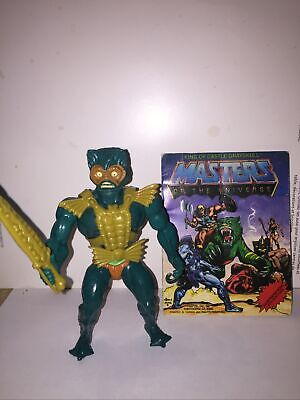 $69 • Buy Merman (8 Back Green Belt Variant) Vintage Masters Of The Universe 100% Complete