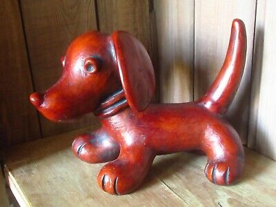 Cute Stylised Walter Bosse For Achatit Germany Hollow Resin Dog Figurine 17.5cm • 50£
