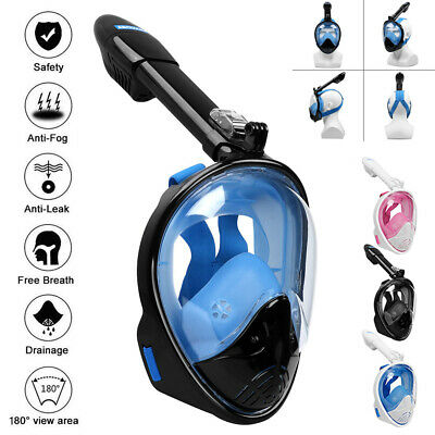 AU26.31 • Buy Anti-Fog Full Face Snorkel Mask Foldable Diving Scuba Swimming Goggles For Gopro