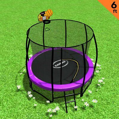 AU594.95 • Buy Kahuna Classic 6ft Trampoline With Basketball Set - Purple