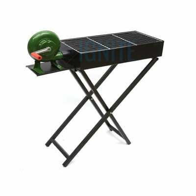 AU119.90 • Buy Portable Charcoal BBQ Foldable BBQ Grill Camping Picnic Airblower Fan 80 X 30cm