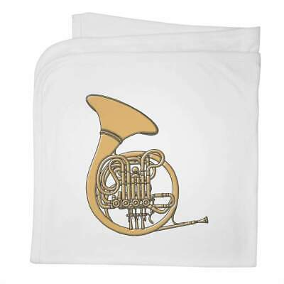 'Brass French Horn' Cotton Baby Blanket / Shawl (BY00019541) • 9.99£