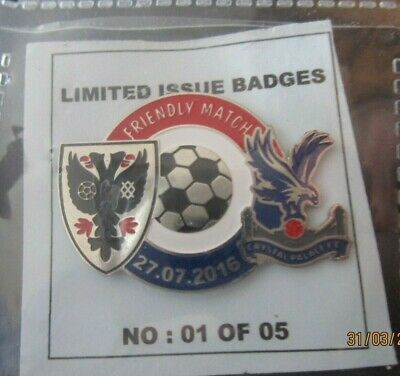 £9.99 • Buy      Crystal Palace Limited Edition  Ultra  Rare Friendly 2016 Badge
