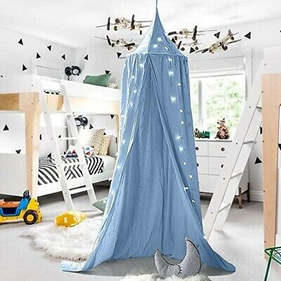£9.99 • Buy Children Bed Canopy Round Dome, Nursery Decorations, Cotton Mosquito Den