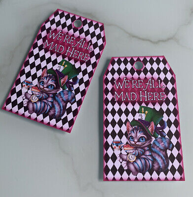 £2.99 • Buy Alice In Wonderland Tea Party Gift Tags Bags Cheshire Cat Cards Drink Me Bottle