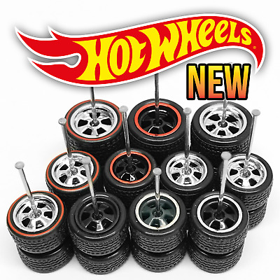 $ CDN7.49 • Buy Hot Wheels 5 SPOKE FLOWER Real Riders Wheels And Tires Set For 1/64 Scale