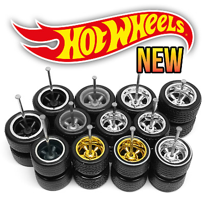 $ CDN7.49 • Buy Hot Wheels 5 SPOKE MUSCLE Real Riders Wheels And Tires Set For 1/64 Scale