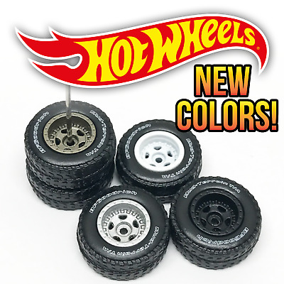 $ CDN2.49 • Buy Hot Wheels 5 SPOKE OFFROAD Real Riders Wheels And Tires Set For 1/64 Scale