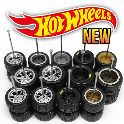 $ CDN7.49 • Buy Hot Wheels 10 SPOKE MUSCLE Real Riders Wheels And Tires Set For 1/64 Scale
