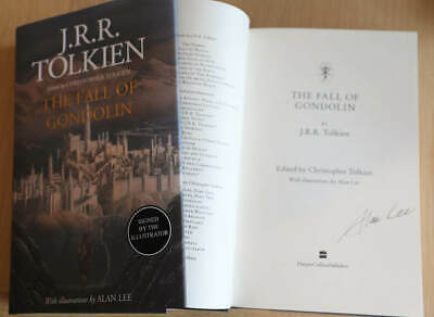 £49.99 • Buy JRR Tolkien - The Fall Of Gondolin - Alan Lee Signed First Edition