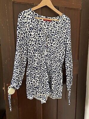 AU10 • Buy Tigerlily Long Sleeved Leopard Print Romper Size 10 Excellent Condition