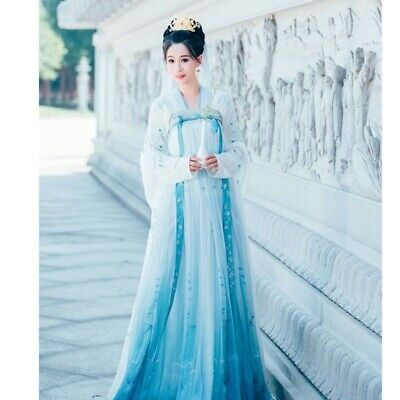£25.09 • Buy Lady Ancient Chinese Embroidered Hanfu Dress Tops Chest Skirt Suit Costume Retro