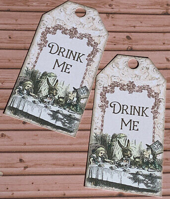 £2.99 • Buy Alice In Wonderland Drink Me Labels Gift Tags Favours Birthday Baby Shower Party
