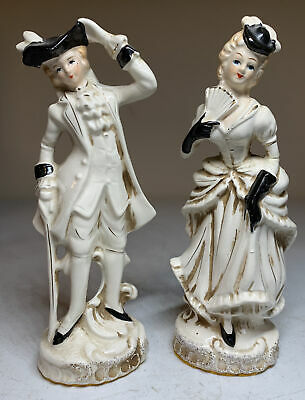 $ CDN62.75 • Buy Pair Of Antique Porcelain Figures Lord & Lady