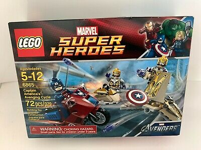 Lego Marvel Super Heroes 6865 Captain American's Avenging Cycle Retired • 18.90£