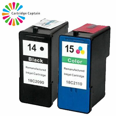 £13.99 • Buy 2 Ink Cartridges Replaces No 14 & 15 For Lexmark X2630 X2670 Z2300 Printer