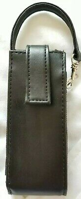 AU10.26 • Buy Hanging Cell Phone Leather Carrying Case Black Swivel Clip Loop Vintage 80s