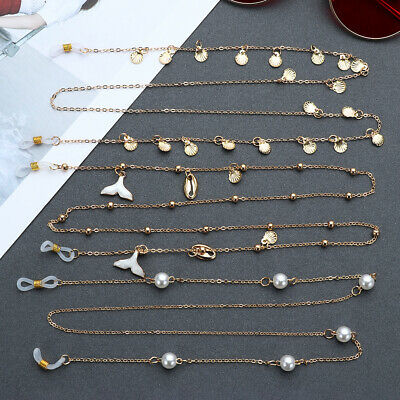 £4.22 • Buy Cord Pearls Eyeglasses Chains Metal Glasses Chain Sunglasses Chains For Women