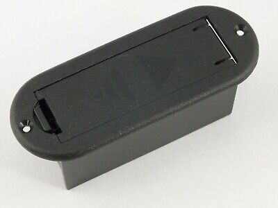 £4.95 • Buy BLACK 9 Volt PP3 BATTERY BOX Flat Mounted For Active Pickups On Electric Guitar