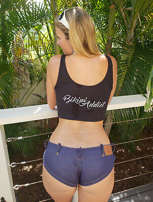 $ CDN169.84 • Buy DISCONTINUED! Wicked Weasel 594 Denim Lighthouse Shorts 938 Crop Singlet Size M!