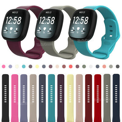 $ CDN6.26 • Buy Replacement For Fitbit Versa 3/Sense Rubber Silicone Sports Strap Band Wristband