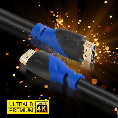 $ CDN16.14 • Buy [1.5-50FT] HDMI 2.0 Cable 4K@60Hz 18Gbps 26AWG For Fire TV, PS3/4, Netfilx LOT