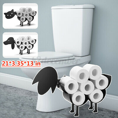 AU27.61 • Buy Toilet Paper Roll Holder Stand Metal Sheep Cat Dog Tissue Storage Bath Organizer
