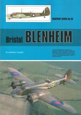£13.50 • Buy Warpaint Series Book No. 26 Bristol Blenheim By Andrew Thomas 38 Pages.
