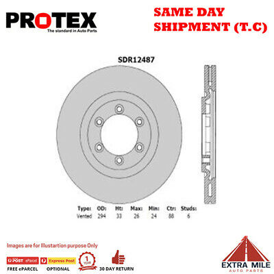 AU179.31 • Buy Protex Front Rotor Pair For SSANGYONG REXTON RX270/RX290 2003 - 2013