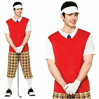 Adult Pub Golf Costume Golfer Fancy Dress Outfit (size Large) • 24£