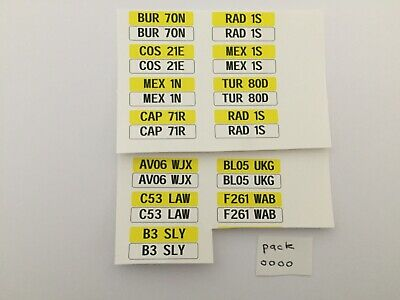 £4.20 • Buy 1/18 Scale Modified Tuning Regs (pack OOOO) These Are Waterslide Decals