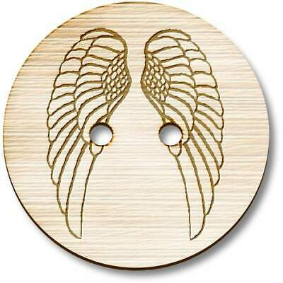 £3.99 • Buy 'Angel Wings' Wooden Buttons (BT013830)