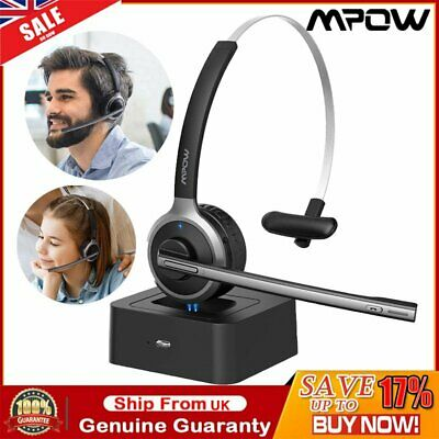 £27.19 • Buy Mpow M5 Pro Bluetooth Headset Noise-Canceling Headphone Driver For Call Center