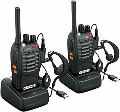 AU70.31 • Buy Walkie Talkies 2 Way Radio Long Range Rechargeable With Earpieces, Charger X2