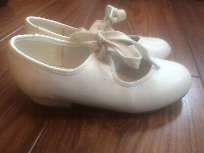 Girls Roch Valley RV White Tap Dance Shoes  Size 10 • 3.99£