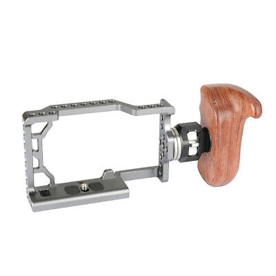 $ CDN105.55 • Buy CAMVATE Sony A6500 Camera Cage Rig W/ Rosette Handle Wooden Handgrip Right Side