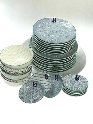 AU79.90 • Buy Dinner Serving Set Of 33 Pieces Lovely Colours & Design Scratch & Dent Clearance