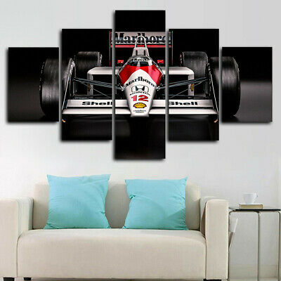 AU35.26 • Buy Classic F1 Car 5 Panel Canvas Print Wall Art Poster Home Decoration