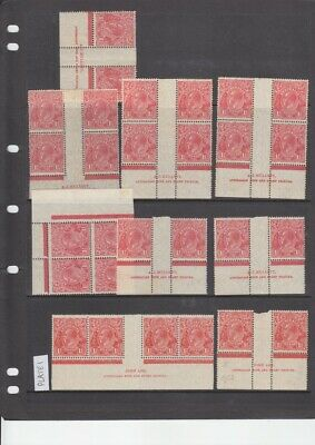 AU35.55 • Buy KGV Heads Collection Of Blocks & Imprints (27!) 1½d Red Small Multi Wmk. Seconds