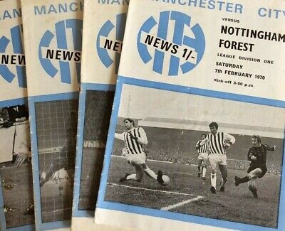 £2.25 • Buy 1968-69 MANCHESTER CITY HOME FOOTBALL PROGRAMMES - Your Choice - FREE Postage