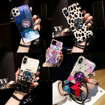 AU13.64 • Buy For IPhone 12 Pro Max 11 Pro XS XR 7 8 Case Glitter Bling Epoxy Ring Stand Cover