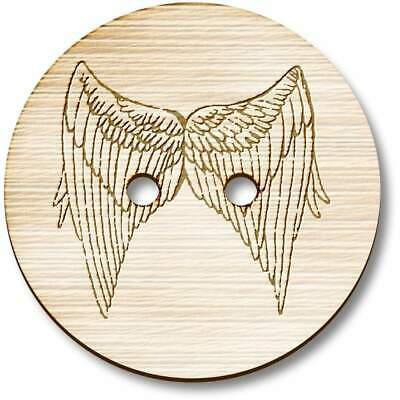 £3.99 • Buy 'Angel Wings' Wooden Buttons (BT015269)