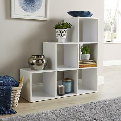 AU65.79 • Buy Step Style Storage Cube 6 Shelf Bookcase Display Staircase Unit White Seconds