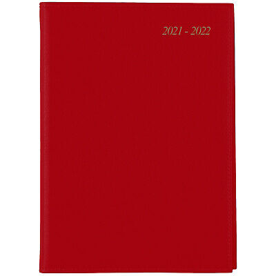 AU25.99 • Buy 2021-2022 Financial Year Diary Cumberland Soho Wiro A5 Day To Page Red 51SFYSH