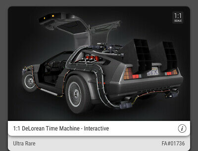$500 • Buy VeVe NFT - DeLorean 1:1 - ULTRA RARE (1736 Of 12,500) Back To The Future - OOS!