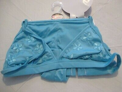 £8.95 • Buy Wild Orchid Teal Embroidered Halterneck Bikini With Boy Shorts  Size 10