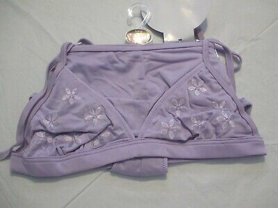 £8.95 • Buy Wild Orchid Purple Embroidered Halterneck Bikini With Boy Shorts  Size 12