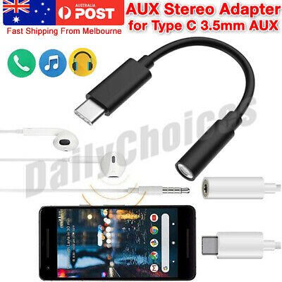 AU5.99 • Buy USB Type C To 3.5mm Headphone Audio Jack Aux Cable Adapter Google Pixel Samsung